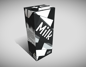 Carton of Milk 4K PBR 3D asset