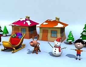 rigged VR / AR ready Xmas Models Pack - Rigged