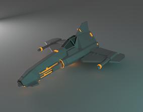 3D model Space ship bullet titan