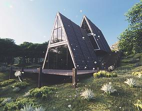 Cabin house v3 3D model