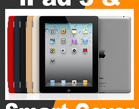 Apple iPad 3 and Smart Cover 3D model