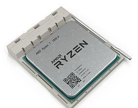 CPU Ryzen And Socket AM4 processor 3D model