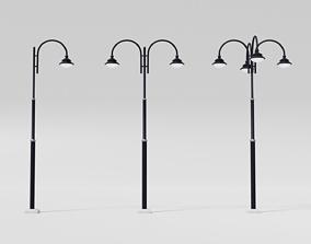 Street lamp pole 3D asset