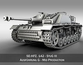 StuG III Ausf G Mid Production 3D model