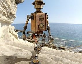 3D asset Steampunk robot