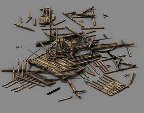 3D model Game Elf Mountain - Broken - Chariot 02