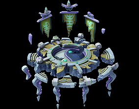 3D model Voidly ruined the ruins of the altar