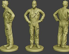 Italian Tank Crew Unit ww2 Stand ITCU1 3D print model