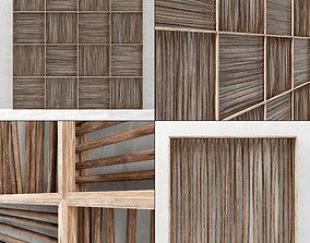 3D Wood panel branch