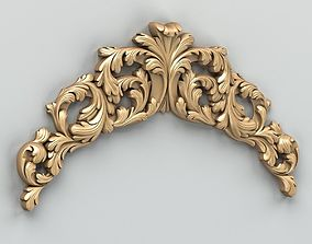 Carved decor horizontal 019 3D