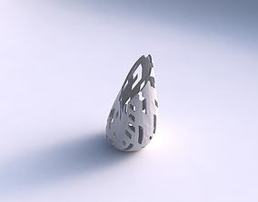 Vase Flame twisted with cuts 3D print model