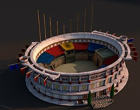 Rome colosseum 3D asset game-ready