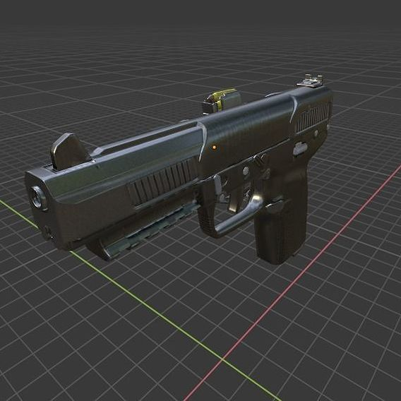 Five Seven Hi-Res Model With Textures