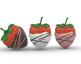 3D printable model Chocolate Dipped Strawberries