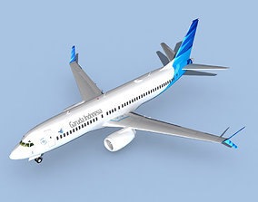 Boeing 737-800 Max Garuda Indonesia 3D