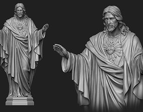 3D print model Jesus with a Sacred Heart Statue 4