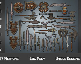3D asset Fantasy Weapon Collection