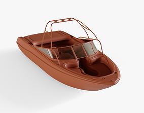 Motorboat watercraft 3D model low-poly