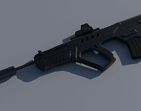 3D asset IWI Tavor TAR-21 EOTech and Suppressor