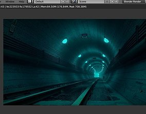 rendered 3D underground tunnel