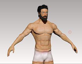 3D model rigged Human Character