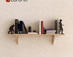 3D model Decorative set with books