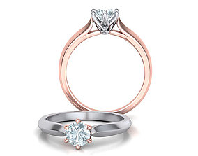 Two-Tone Classic Engagement ring 3dmodel