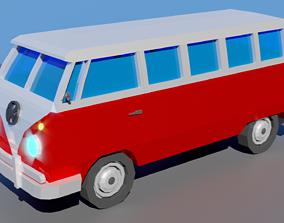 Low Poly Van 3D model game-ready
