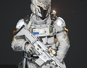 SCIFI - SPACE SOLDIER 3D model