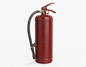 3D model Fire extinguisher classes A and B 01 dirty