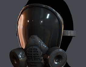 Gas mask helmet 3d model realtime 4
