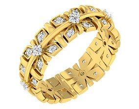 engagement Band Ring For Ladies 3D print model
