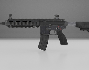 M416 rifle 3D model VR / AR ready