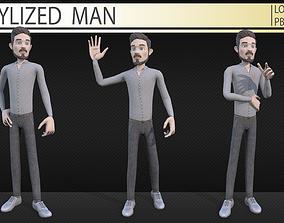 3D model Stylized man