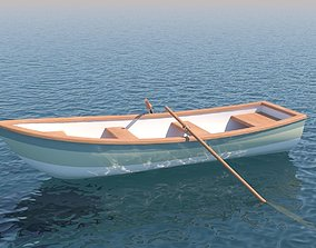 3D model water Rowboat