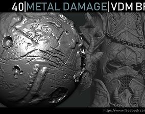 3D asset Zbrush - Metal Damage VDM Brush
