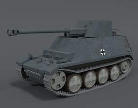 Low Poly Cartoon SdKFz 132 Marder II Tank 3D model