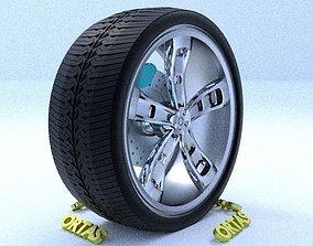 ORTAS CAR RIM 20 GAME READY RIM TIRE AND DISC 3D