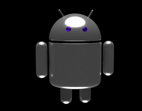 Android robot 3D asset game-ready