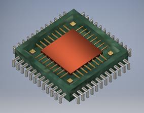 3D printable model 3D model Silicon Processor
