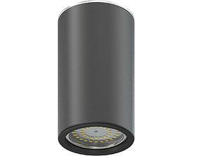 Black Cylindrical Light 3D Model