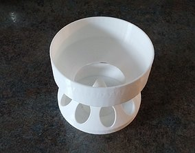 Baby Chick Feeder with hopper 3D print model