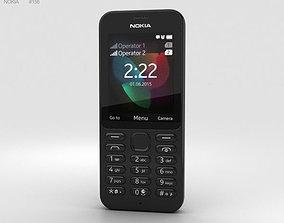 3D model Nokia 222 Black