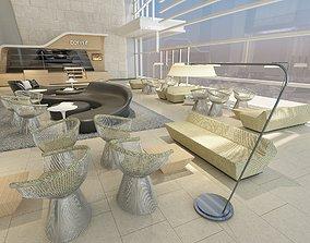 Office Building Lobby 3D