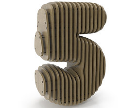 3D model Wood symbol 5