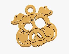 3D printable model Pig muzzle trinket character