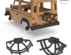 3D printable model Land Rover Defender V2 3 Tire Holder