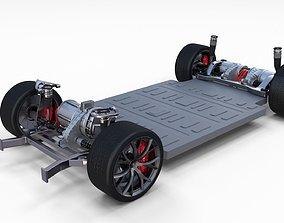 3D model 2020 Tesla Roadster 3 Motor Chassis
