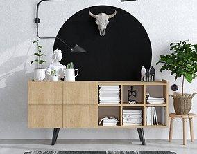 Scandinavian Styling Home Scene Corona 01-Console 3D