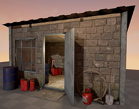 3D model Shed with props